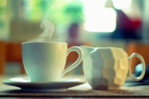 Neem contact op, koffie